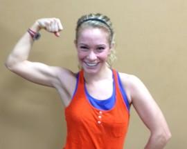 Hannah - gaining muscle!